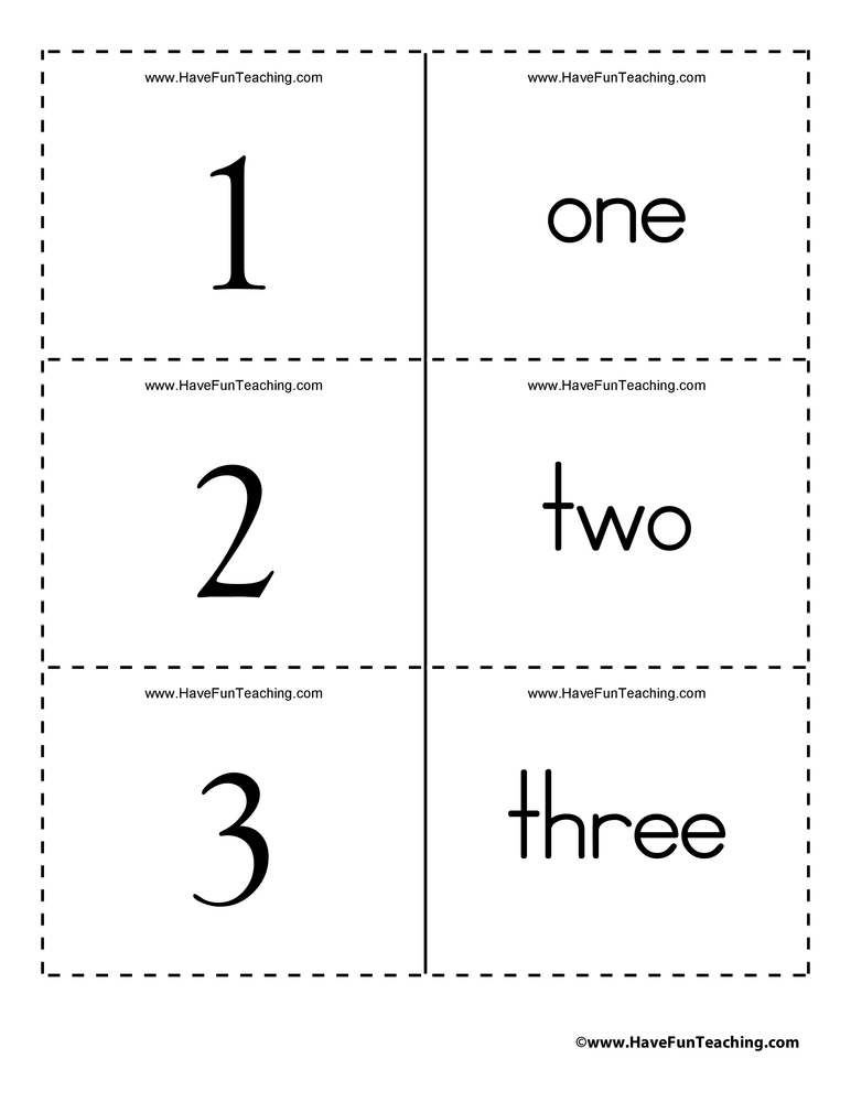 number-word-flash-cards