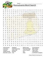 Pennsylvania Word Search Worksheet