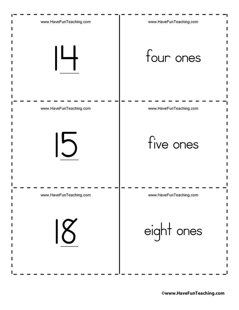 Ones, Tens, Hundreds Place Value Flash Cards