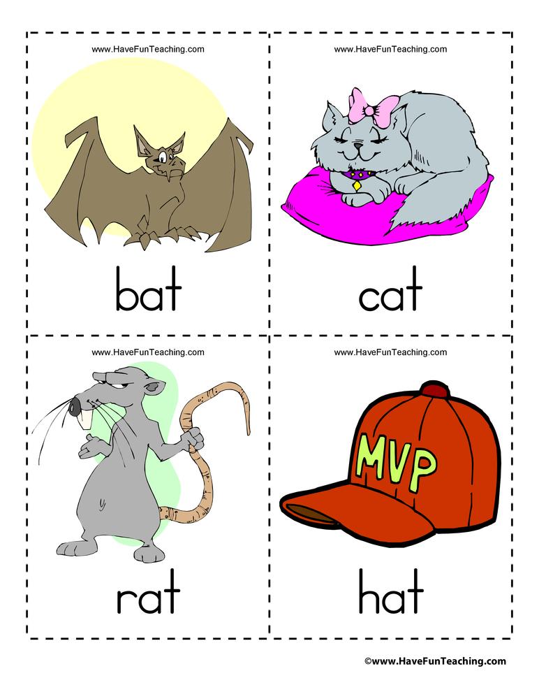 Preschool Vocabulary Flash Cards