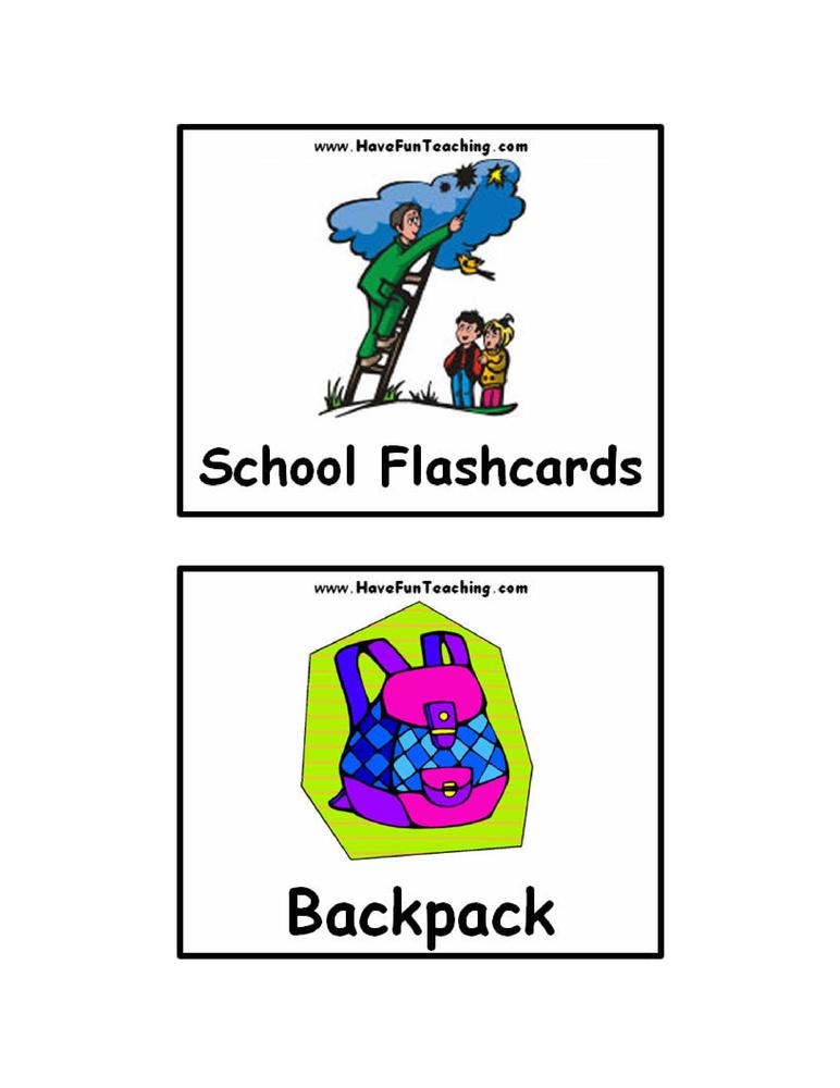 school-flash-cards
