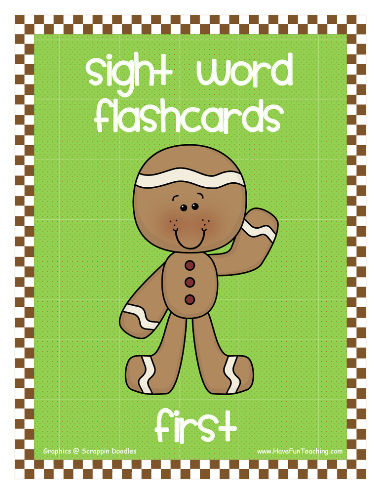 First Grade Gingerbread Sight Words Flash Cards | Have Fun