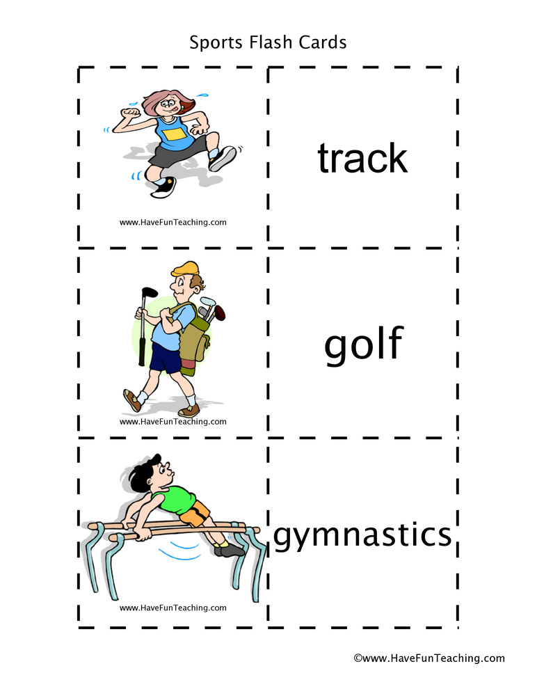 Sports Flash Cards