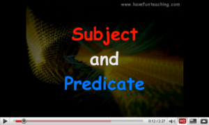 subject-and-predicate-video