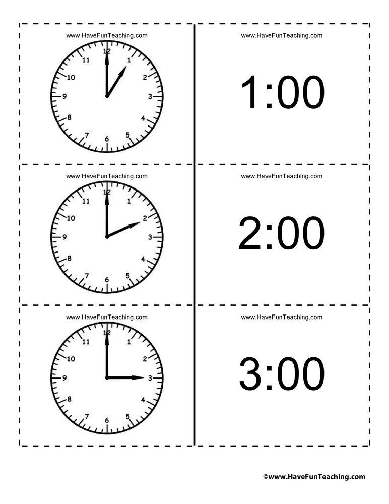 time-flash-cards