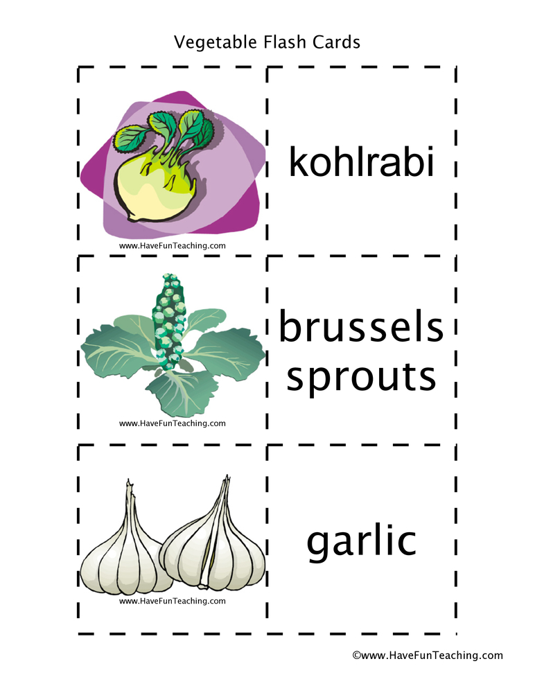 vegetable-flash-cards