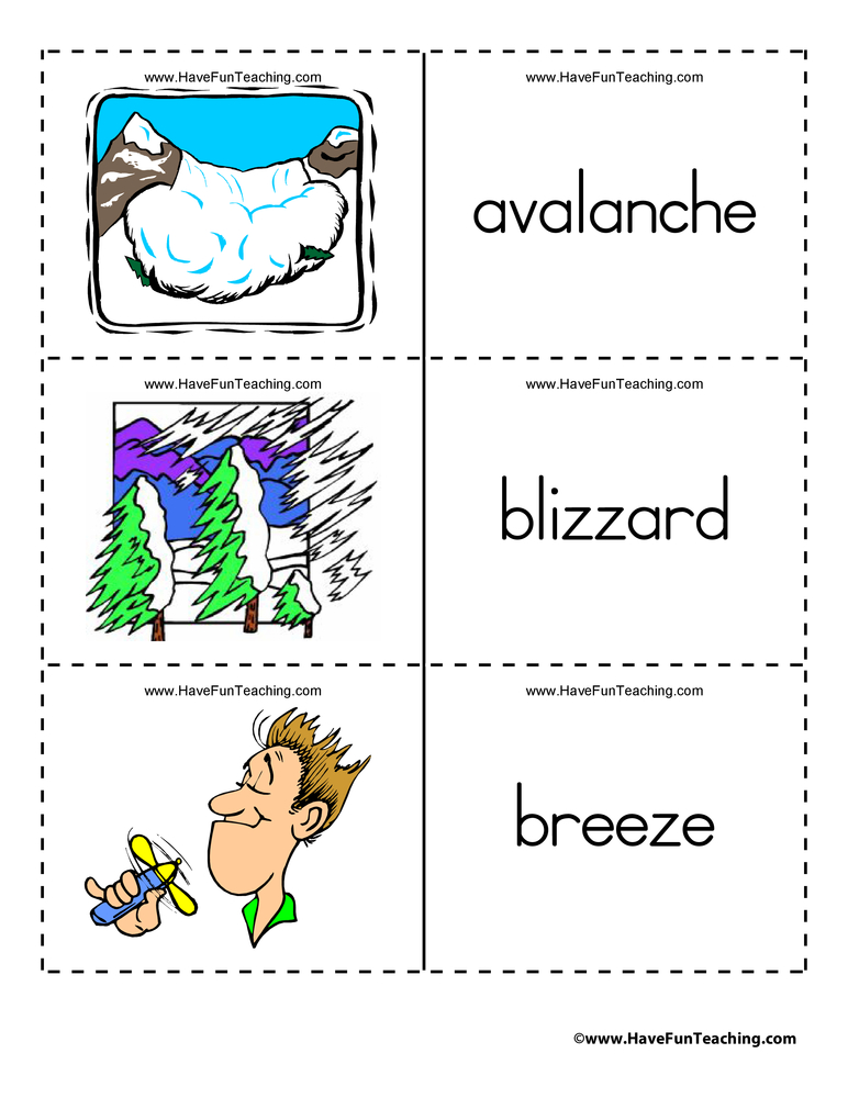 weather-flashcards