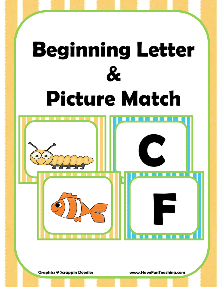 alphabet picture matching activity