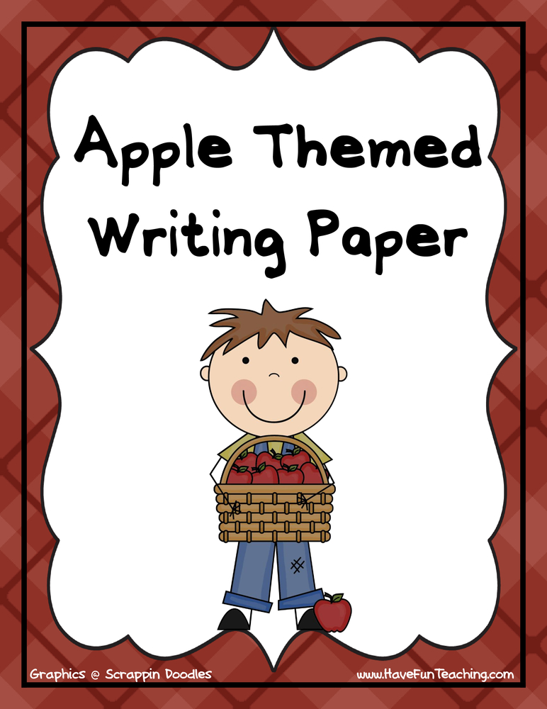 apple themed writing activity