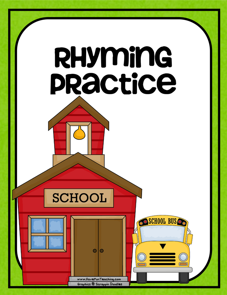 back to school rhyming activity