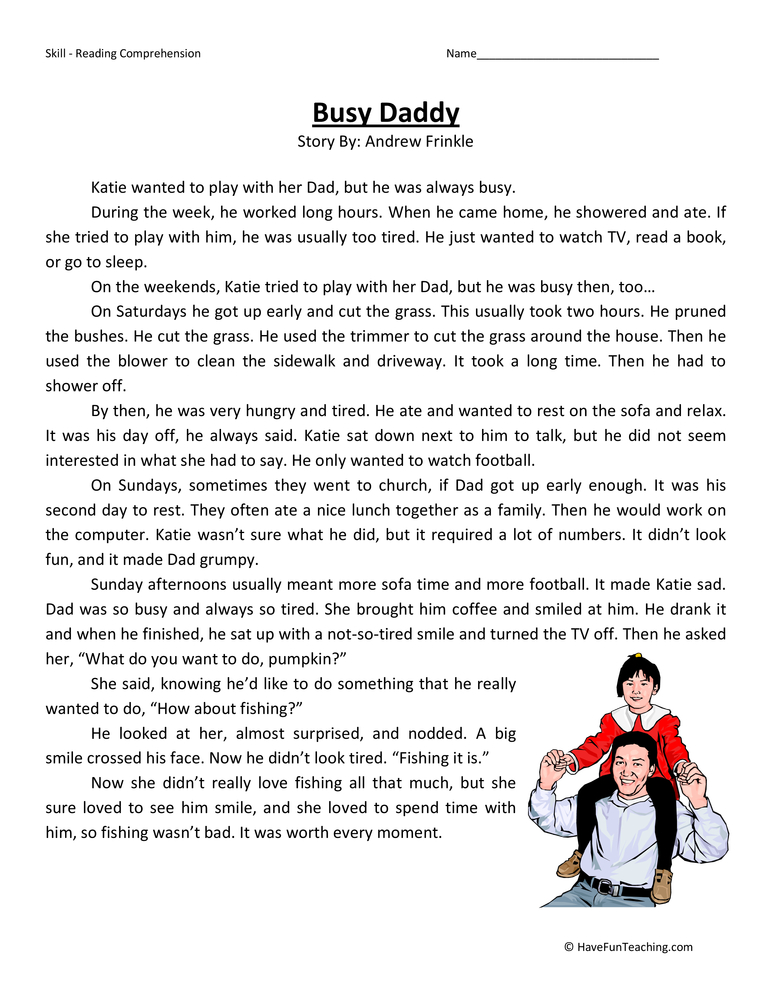 Second Grade Reading Comprehension Worksheets | Page 2 of ...