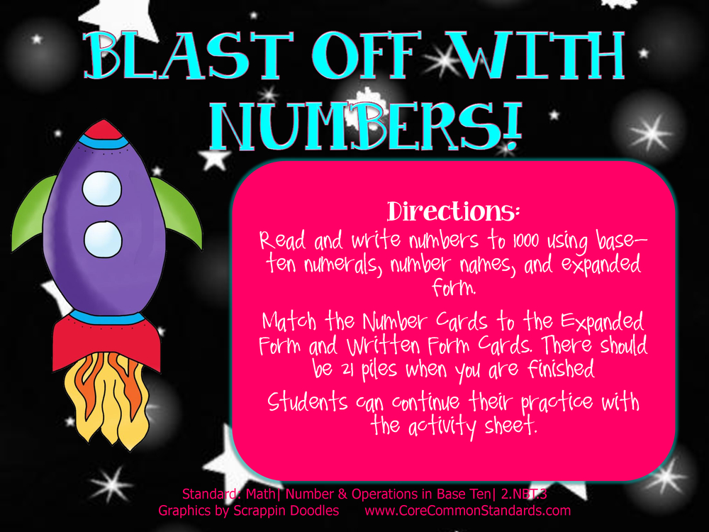 Common Core Activity - 2.NBT.3