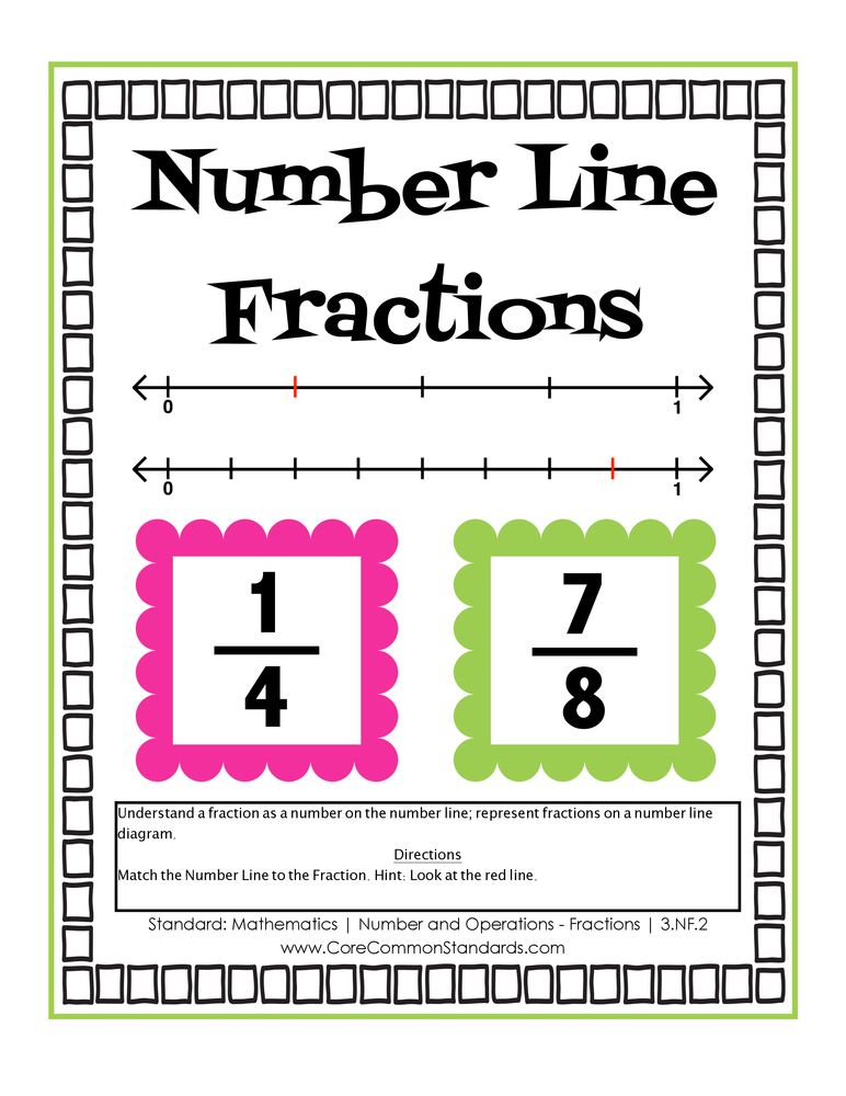 Common Core Activity - 3.NF.2