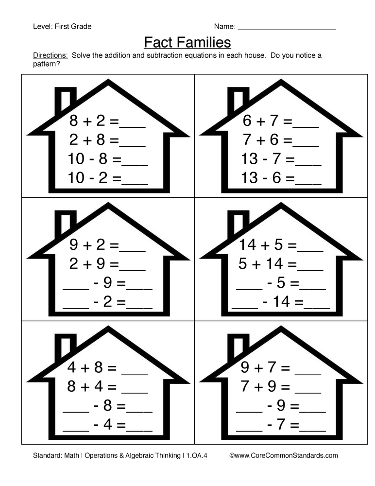 First Grade Common Core Worksheets - Have Fun Teaching