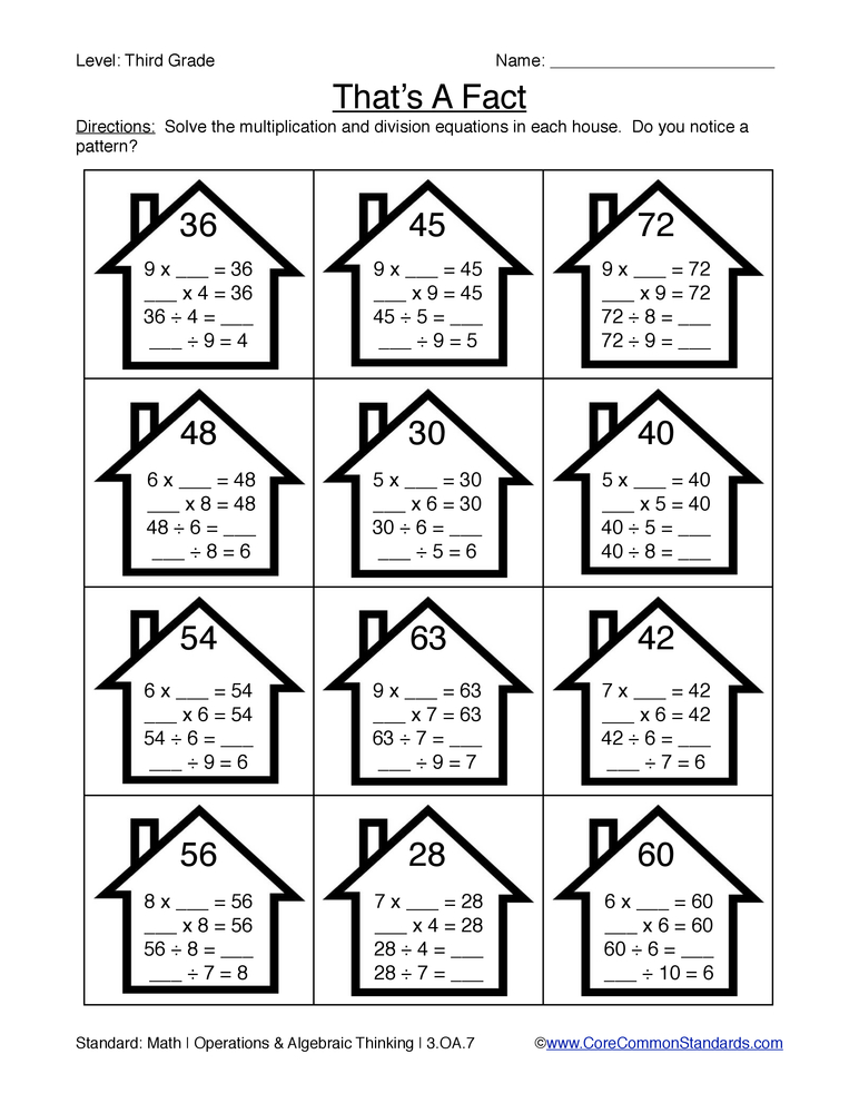 math worksheet : third grade common core worksheets  have fun teaching : Fun Multiplication Worksheet