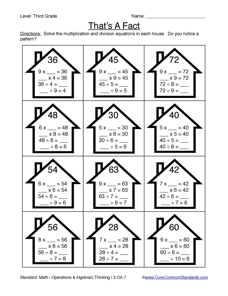math worksheet : third grade common core worksheets  have fun teaching : Common Core Math Worksheets 4th Grade