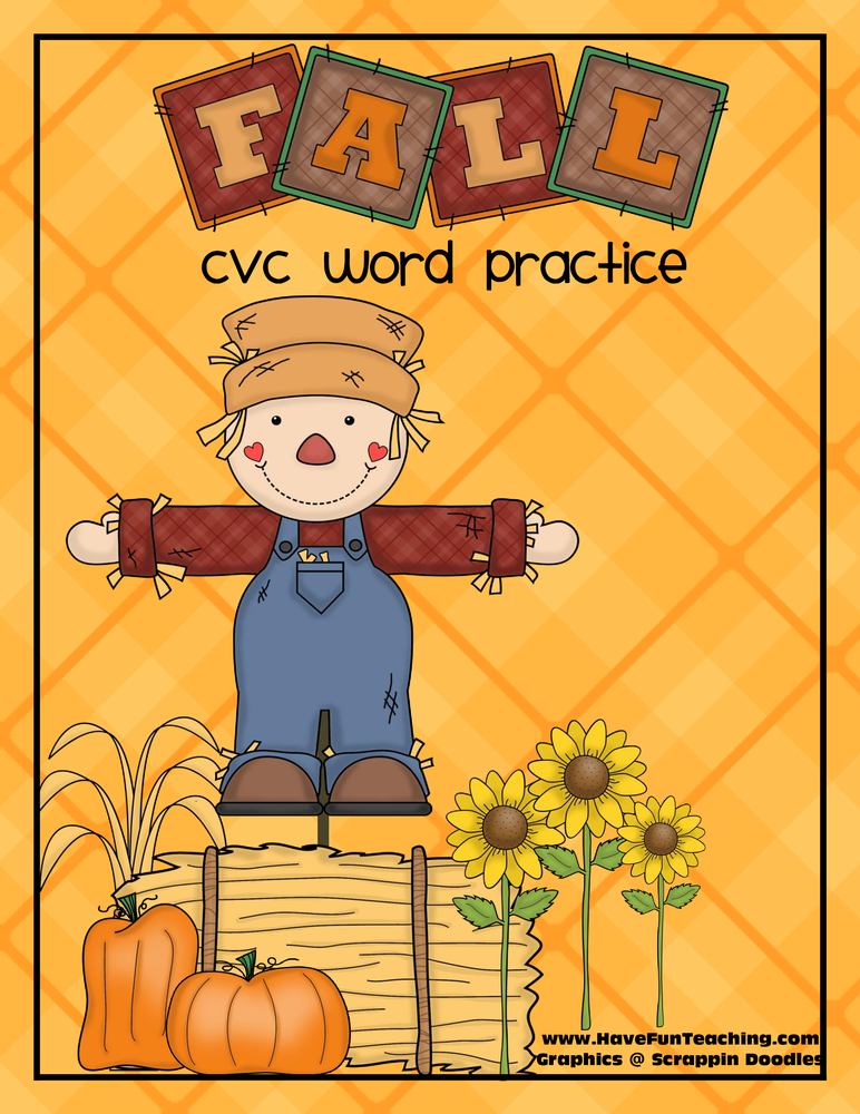 fall cvc mat activity