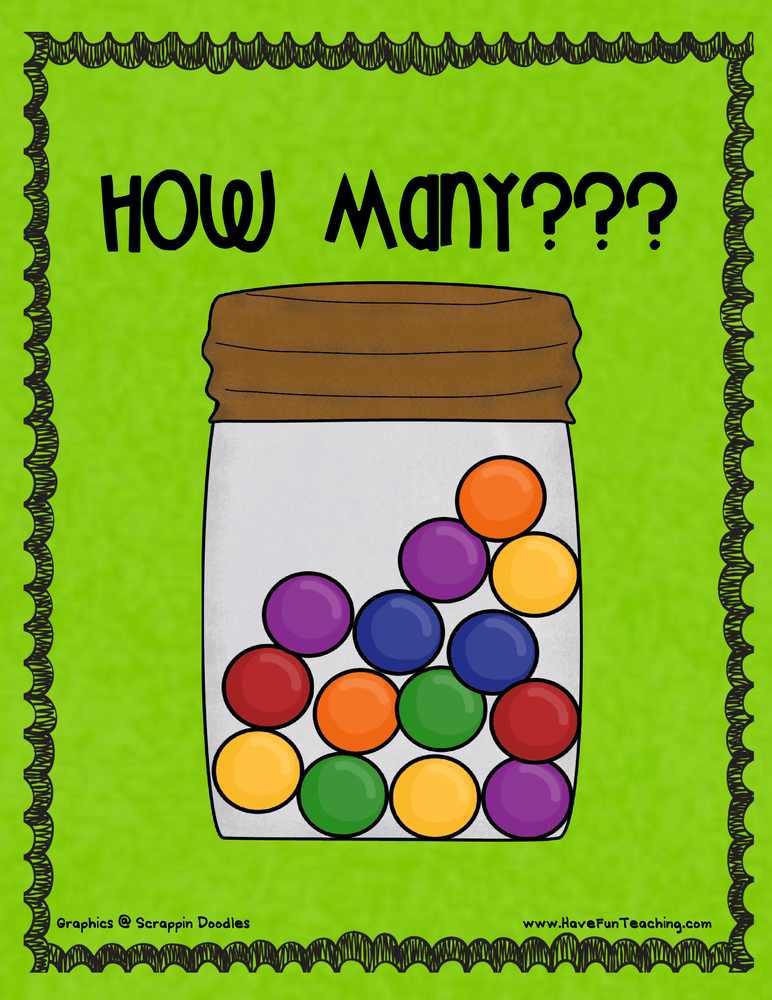 gumball jar counting activity