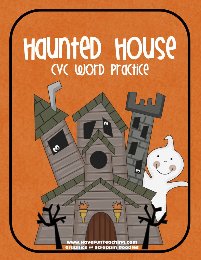 Haunted House CVC Mat Activity