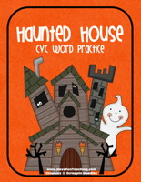 haunted house cvc mat activity