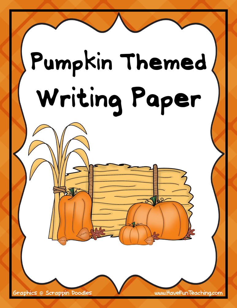 Pumpkin Themed Writing Activity