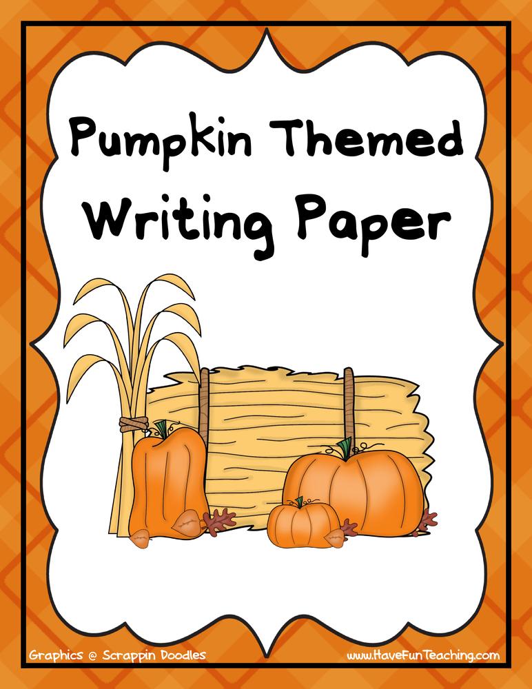 pumpkin themed writing activity