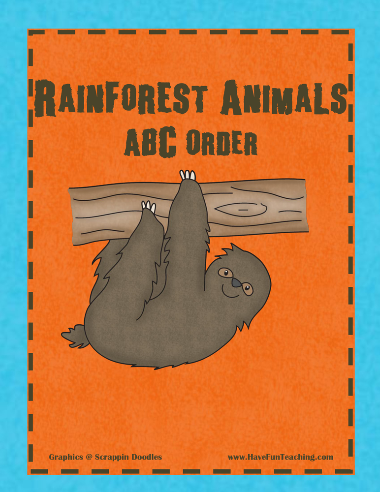 Rainforest ABC Order Activity