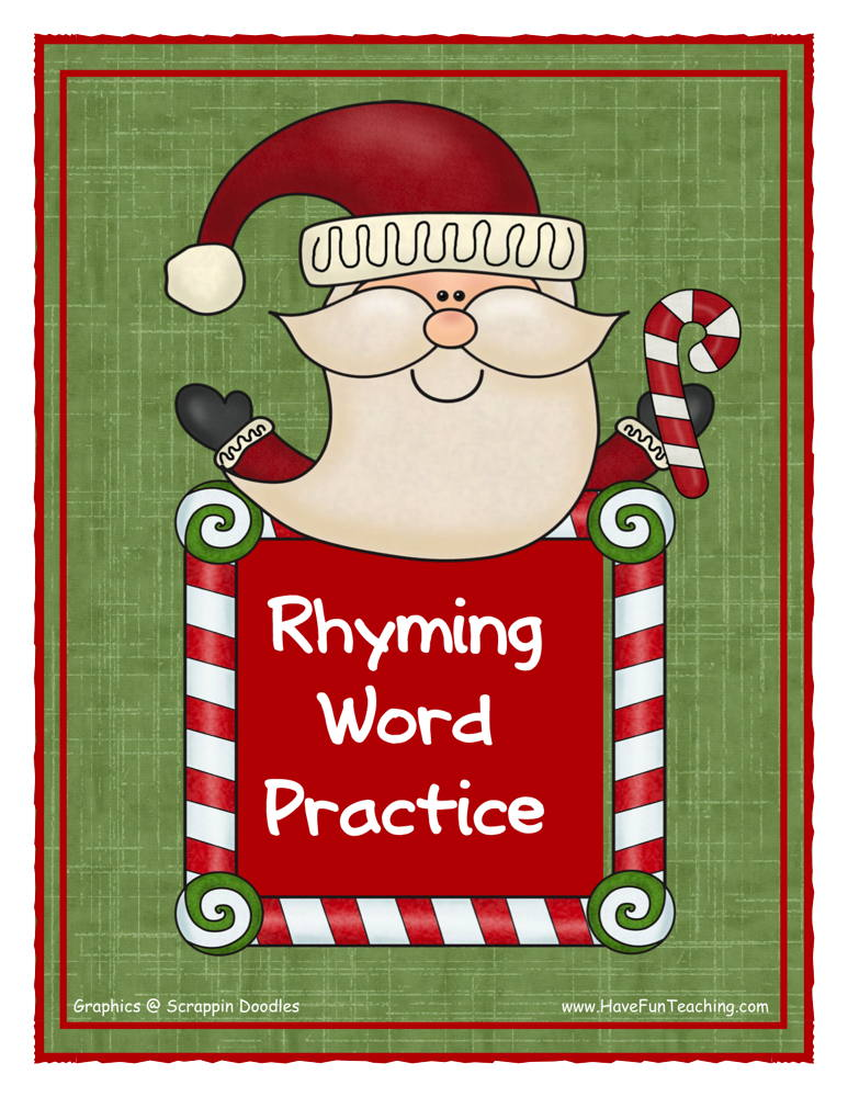 Rhyming Words Christmas Activity