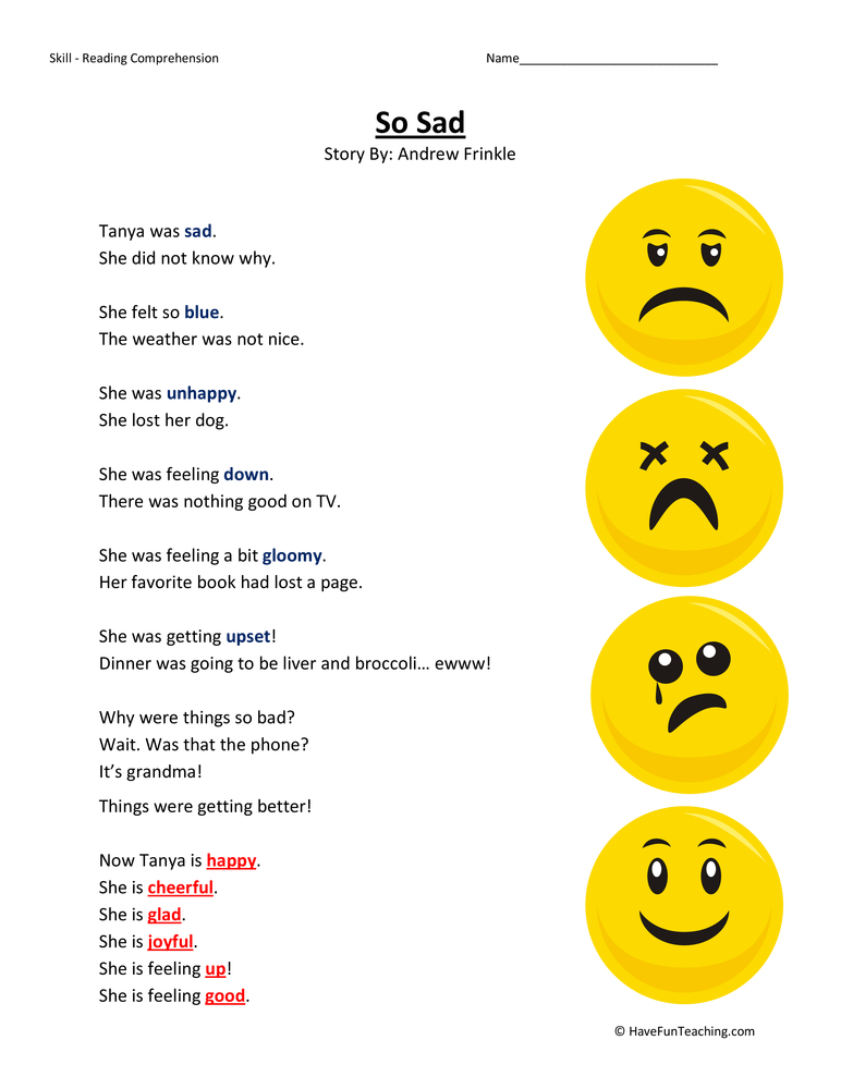 ... First Grade Reading Comprehension Worksheets , First Grade Test
