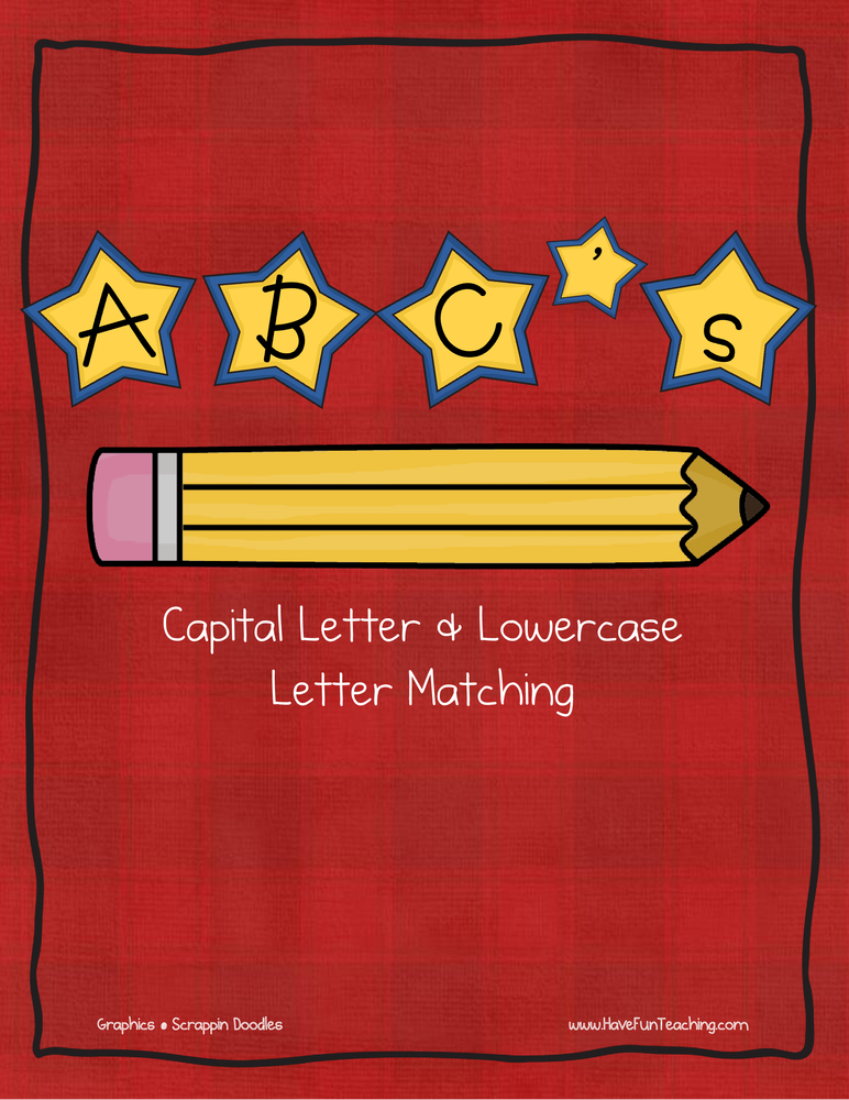 star alphabet matching activity
