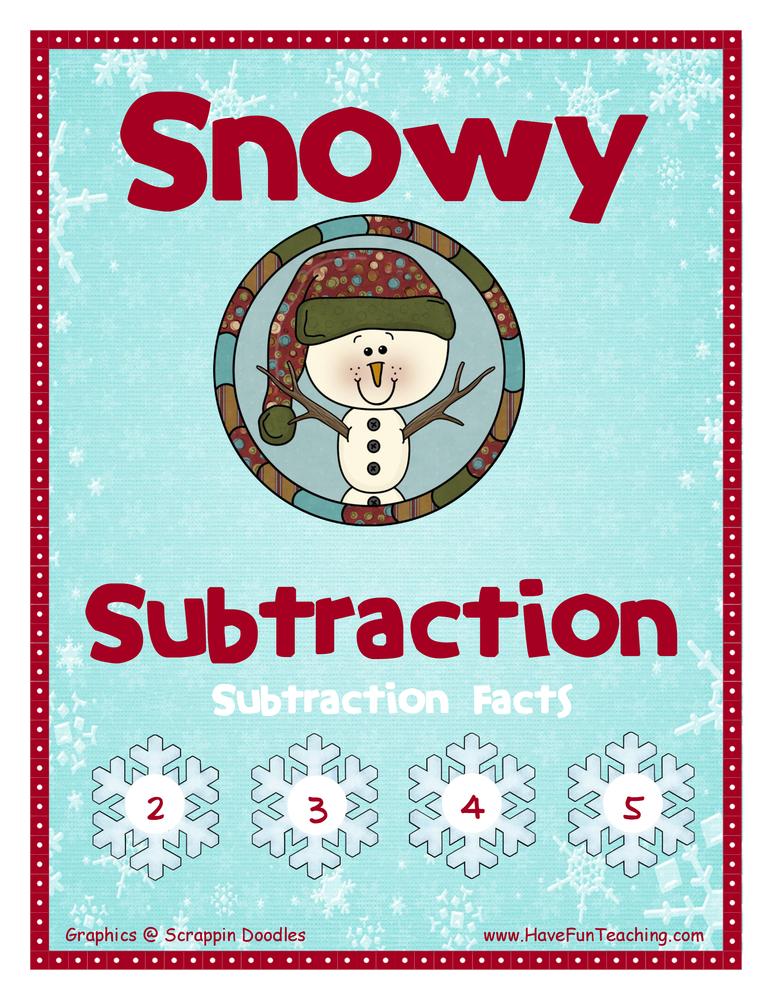 subtraction activity 2-3-4-5