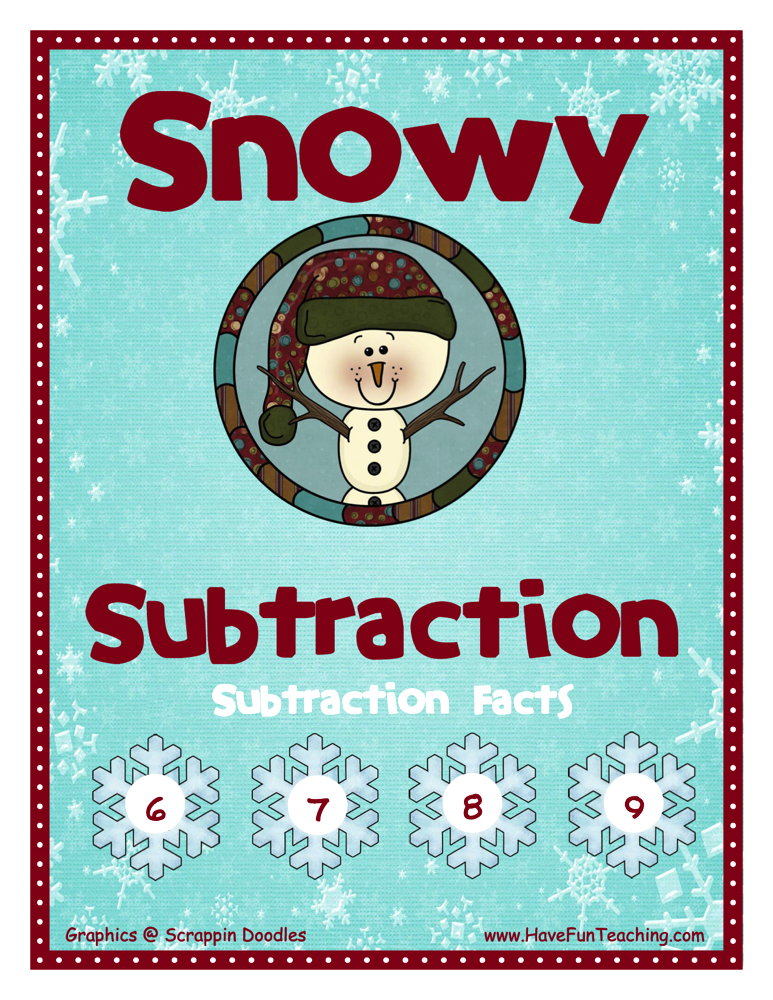 Subtraction With 6-7-8-9 Differences Activity