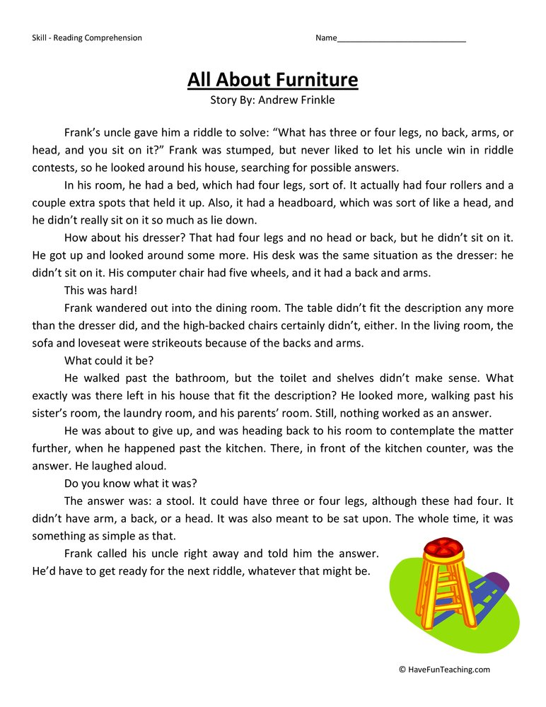 Third Grade Reading Comprehension Worksheets – Third Grade Worksheets