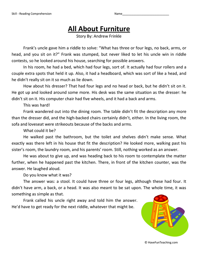 Printable Worksheets free reading comprehension worksheets grade 3 : Third Grade Reading Comprehension Worksheets | Have Fun Teaching