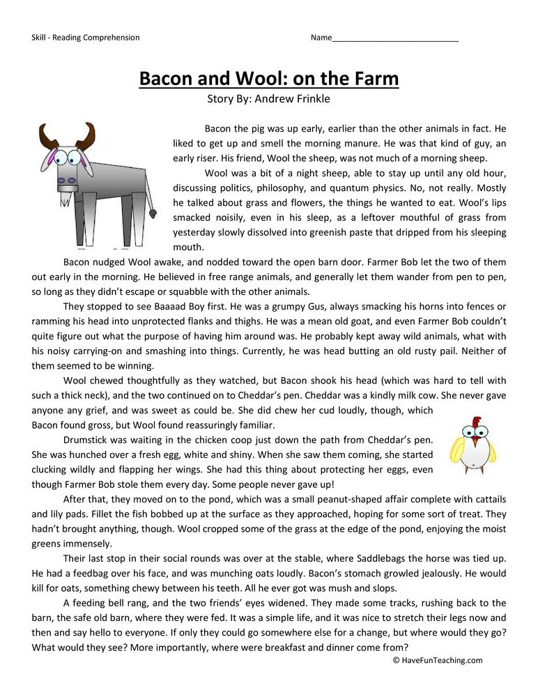 Third Grade Reading Comprehension Worksheets – Reading Comp Worksheets