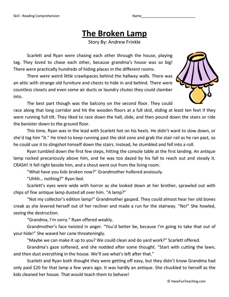 Fifth Grade Reading Comprehension Worksheets – Fifth Grade Language Arts Worksheets