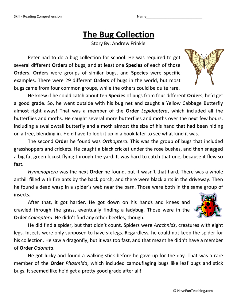 insect worksheets have fun teaching. Black Bedroom Furniture Sets. Home Design Ideas