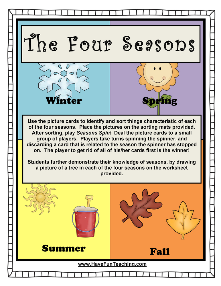 four seasons activity