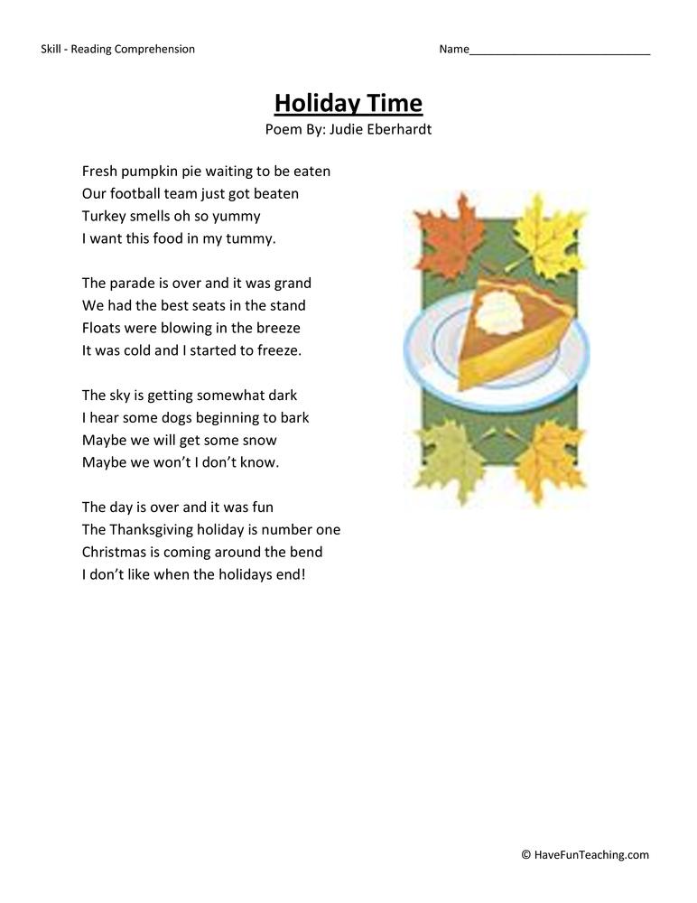 Third Grade Reading Worksheets | Have Fun Teaching