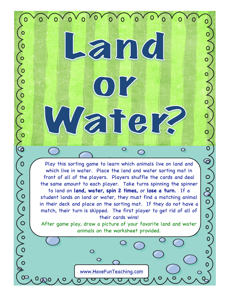 land or water activity