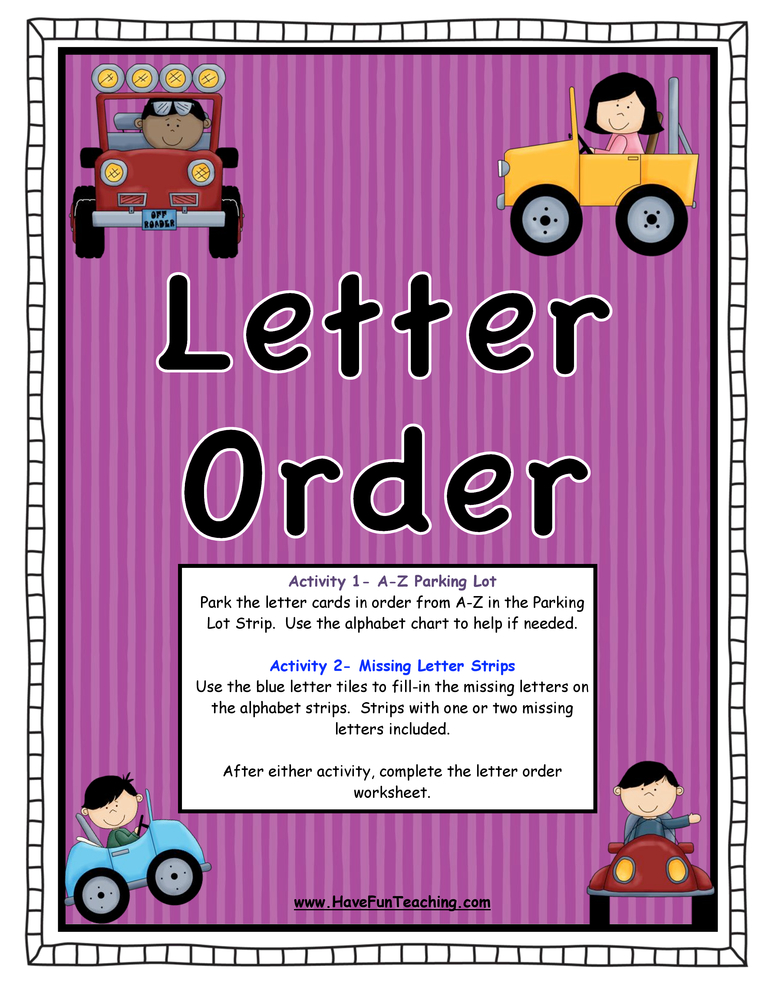 Letter Order Activity