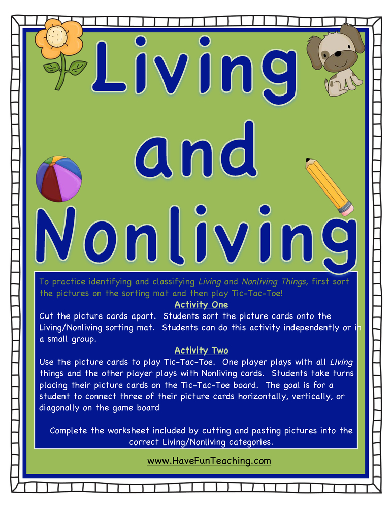 Living and Nonliving Activity