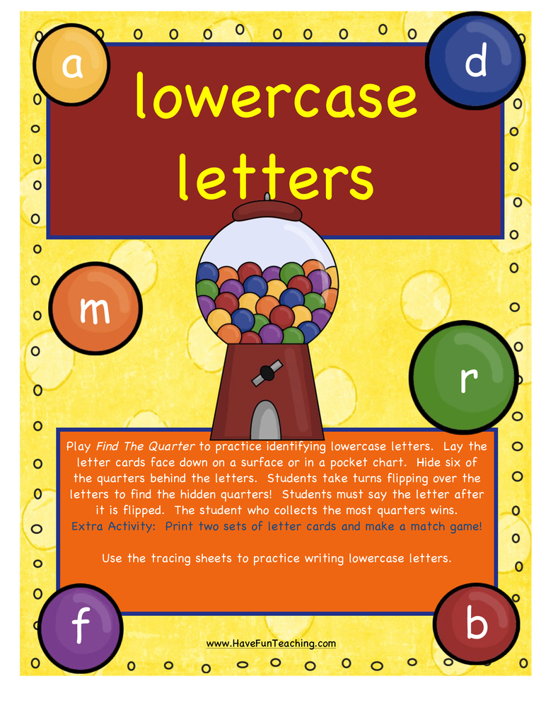 lowercase letters activity