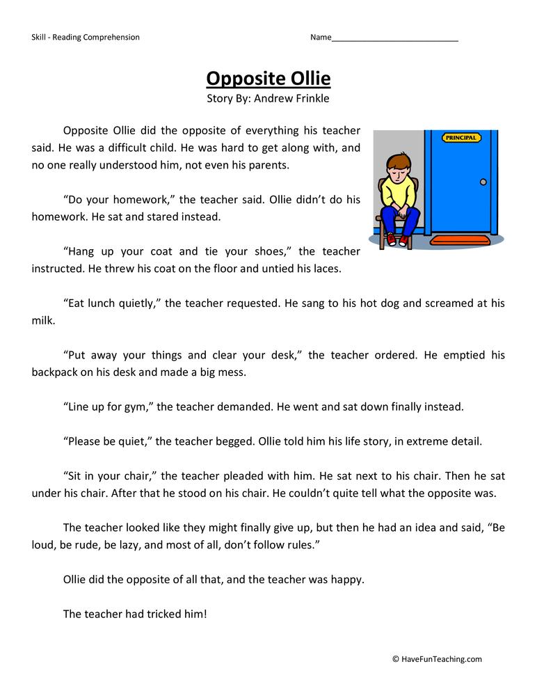 Third Grade Reading Comprehension Worksheets – 3rd Grade Reading Comprehension Worksheets Free
