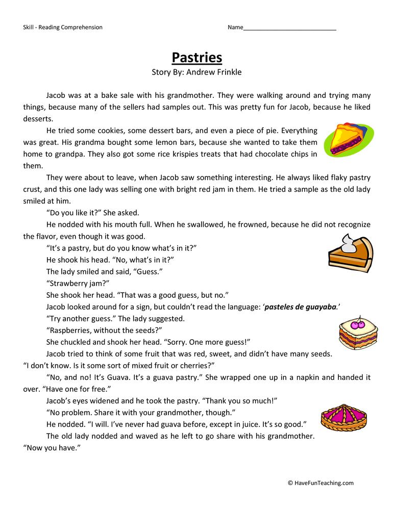 Reading Comprehension Worksheets – Comprehension Worksheet
