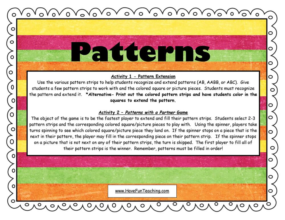 patterns activity