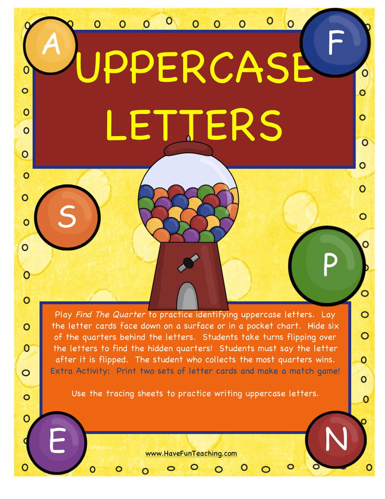Uppercase Letters Activity