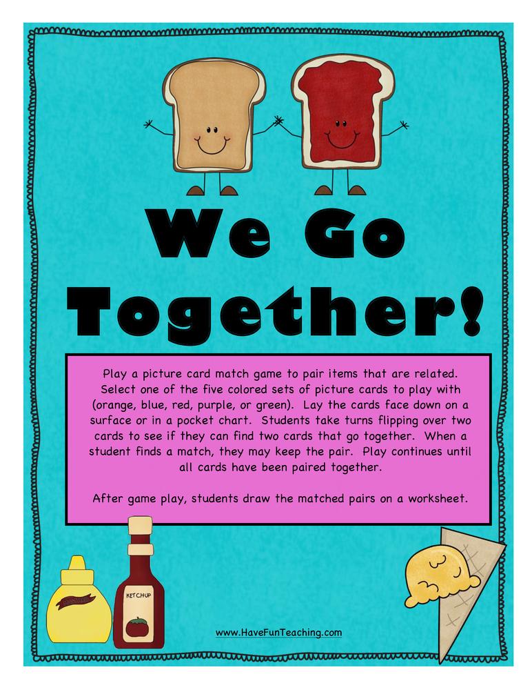 We Go Together Activity