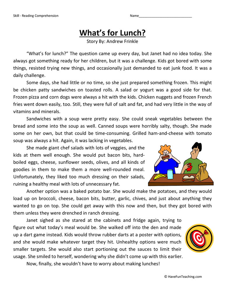 havefunteachingwpcontentuploads201311 – 6th Grade Reading Comprehension Worksheets
