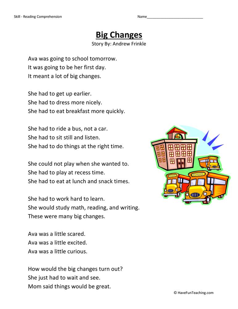 Second Grade Reading Comprehension Worksheets – Reading Comprehension Worksheet 2nd Grade